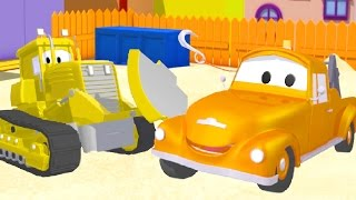 Tom The Tow Truck and Billy the Bulldozer in Car City | Cars & Trucks construction cartoon 🚗💨🚃
