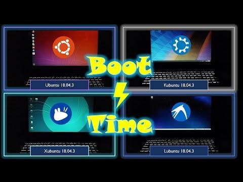 Boot Time: Ubuntu Vs Kubuntu Vs Xubuntu Vs Lubuntu (18.04.3 LTS)