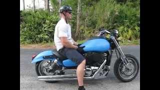 1345 03 Mean Streak VN 1500P blue Fallen Cycles Test Ride