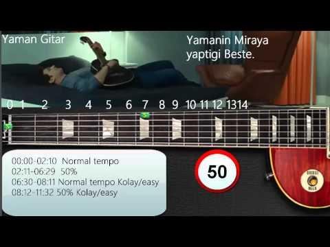 Yamanin Bestesi Gitar tutorial [Bir kuyruklu yildiza mektup] Medcezir dizi muzigi