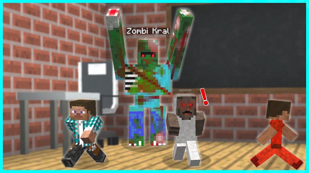 ZOMBİ KRAL, OKULDA ÇOCUKLARA SALDIRIYOR! 😱 - Minecraft