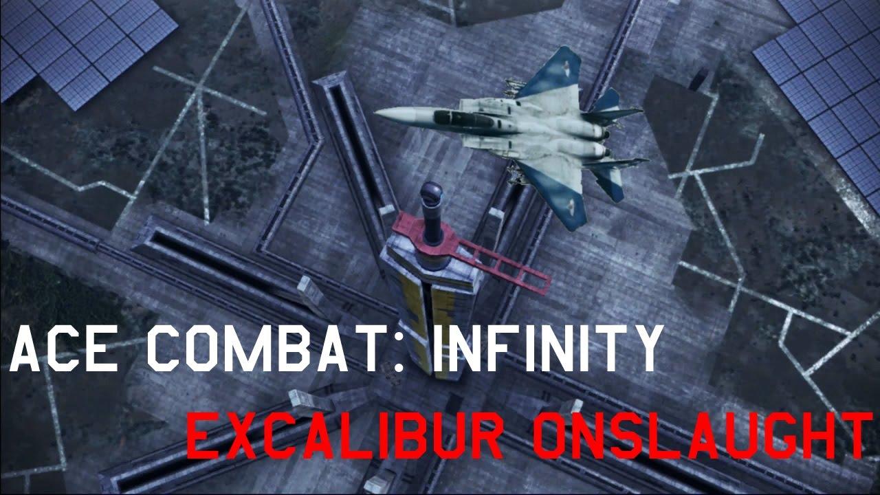 Ace Combat Infinity Excalibur Onslaught Iii Golden Excalibur