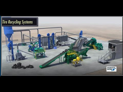 4-Stage Tire Recycling System Video