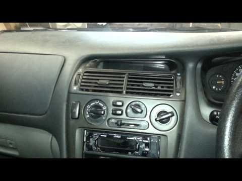 How to remove a radio from a  Mitsubishi Magna TE - TL