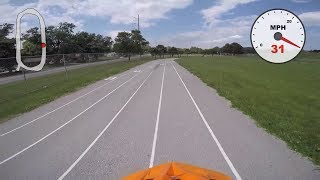 Fastest Run on Drill Powered Bicycle 31 MPH / 50 KPH!