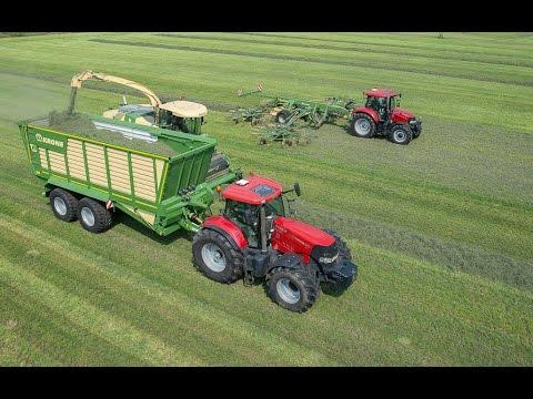 Kleurplaten Tractors Case.Loonbedrijf Tuller Bathmen Met Nieuwe Krone Silagewagens Trekkerweb