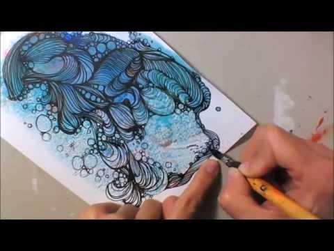 Kritzelei #7 - Mixed Media - Zentangle Inspired Art