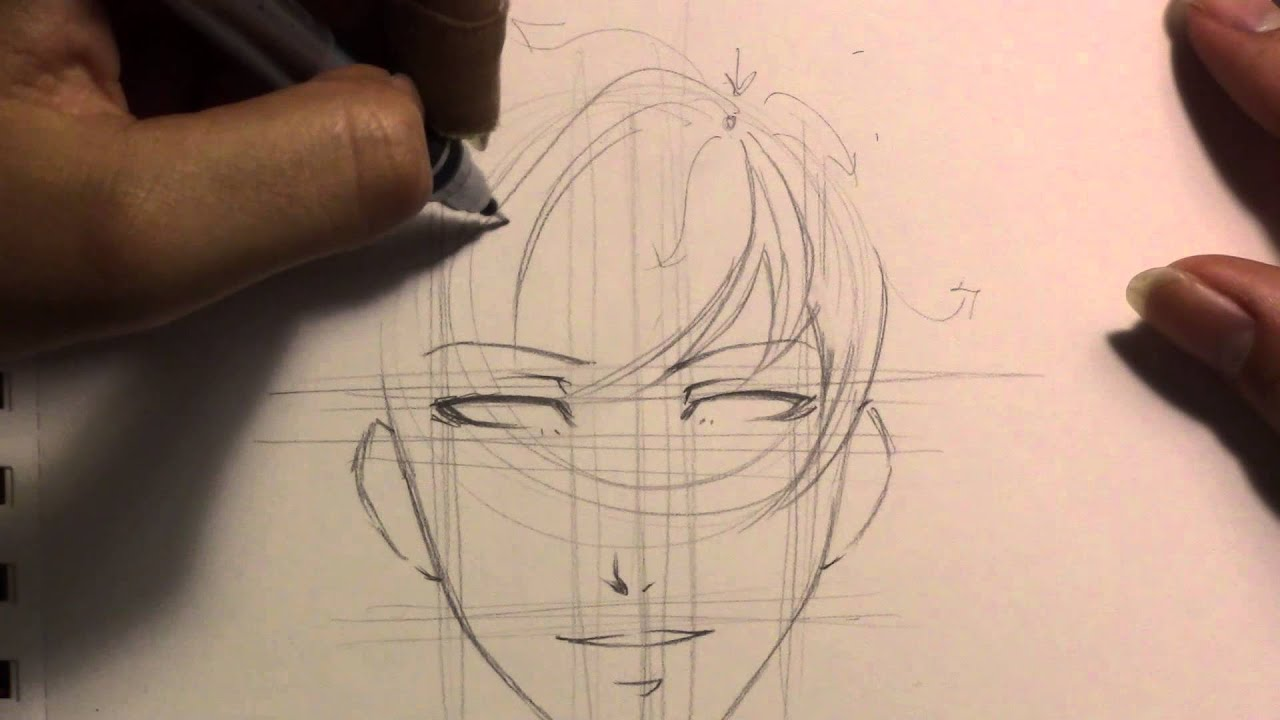 how to draw a basic bishie manga style youtube
