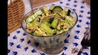 Хрустящий салат из свежих овощей