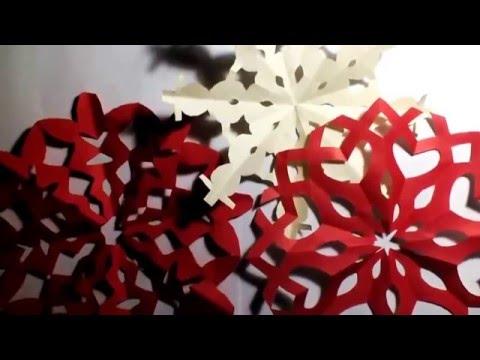 Вытынанки на Новый год 2016. Шаблоны: Как сделать красивую снежинку своими руками за 3 минуты?