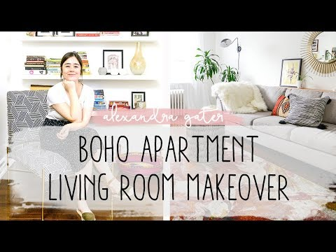 BOHO APARTMENT LIVING ROOM MAKEOVER | HOW TO MIX COLOUR & PATTERN