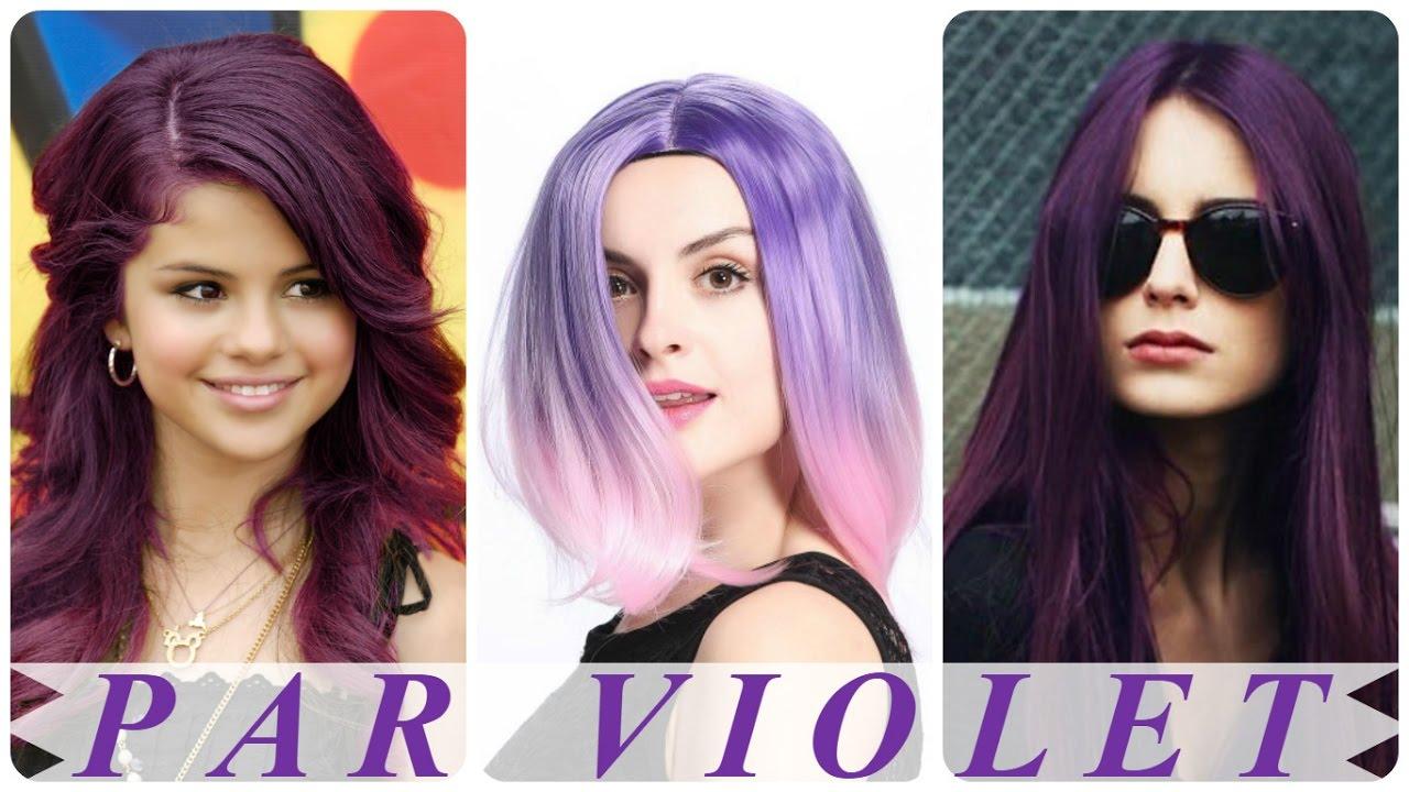 Culori De Par Violet Moderne Femei Youtube