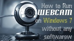 How to use webcam on windows 7 without software |English,Urdu,Hindi|
