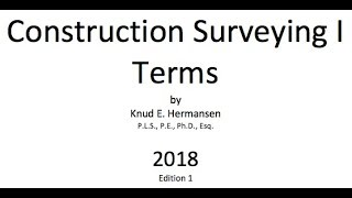 Construction Surveying I Terms