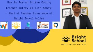 How to Crack the Online Coding Teacher Interview | Bright School | campk12, whitehatjr, vedantu
