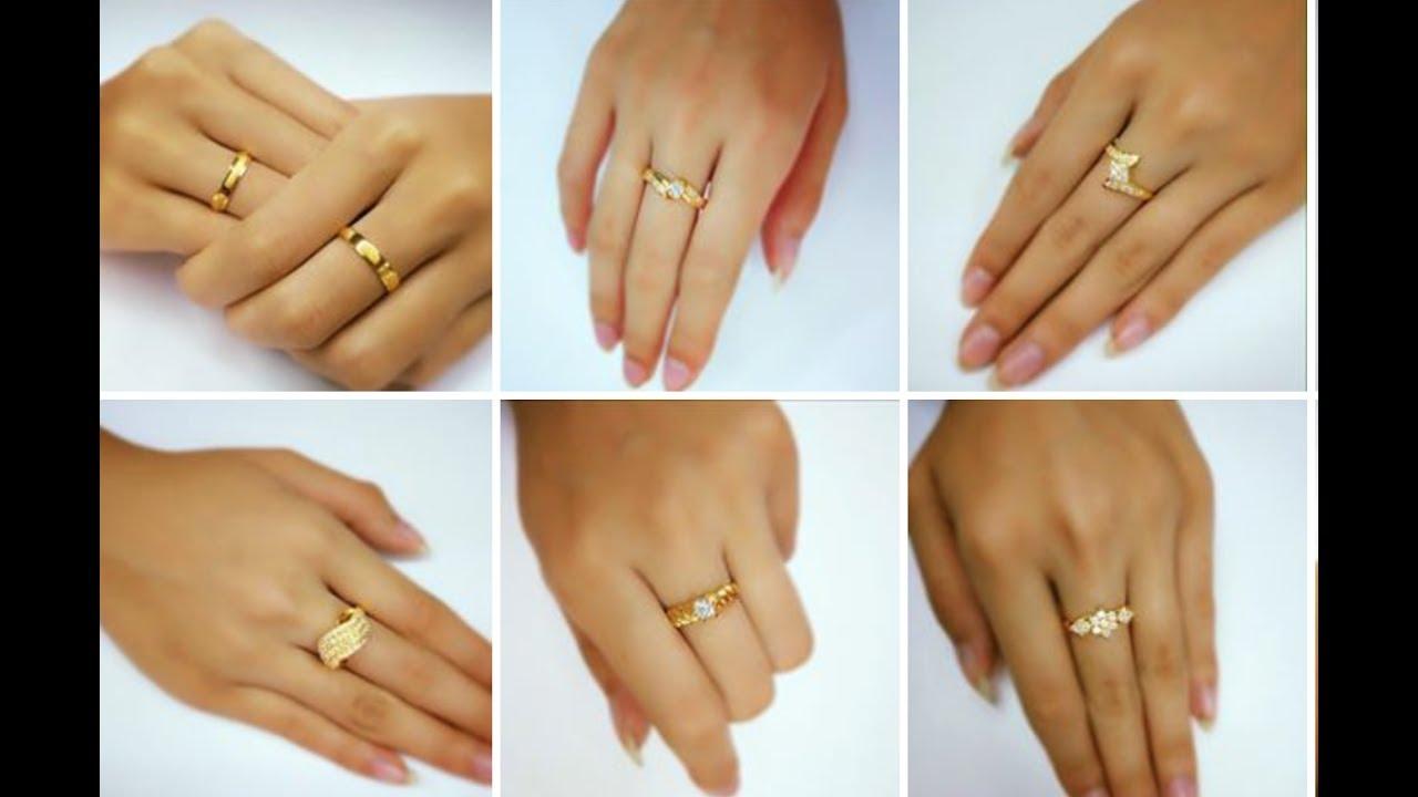 Women Gold Finger Ring Designs - YouTube