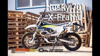 Husqvarna 701 Enduro - X-Frame pannier racks installation