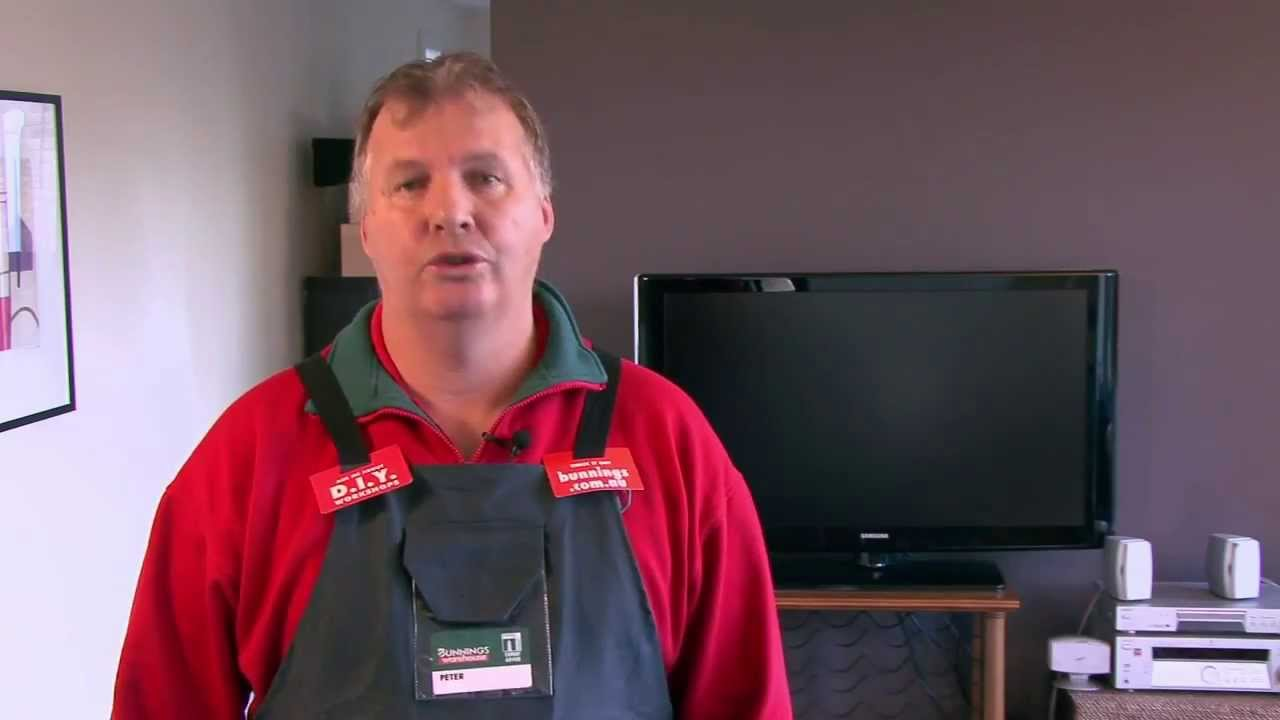 Tv Bracket Bunnings How To Install A Television Bracket Bunnings D I Y Video