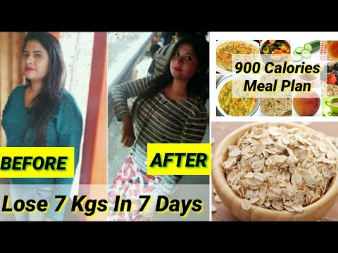 How To Lose Weight Fast – 7 Kgs In 7 Days | 900 Calorie Oats Meal Plan | Oats diet for weight loss