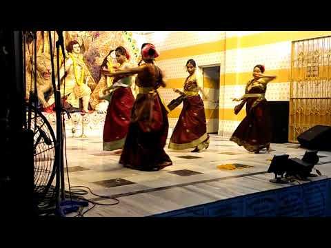 Elo Maa Durga Maa Dance By Soumali Sarkar And Her Friends