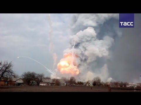 Военный склад в Харьковской области горит уже вторые сутки