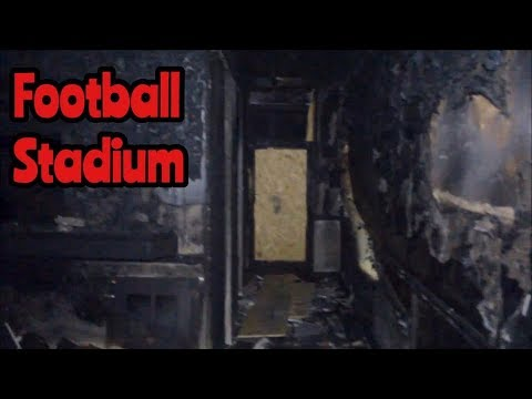 ABANDONED FOOTBALL STADIUM (FIRE DAMAGE)