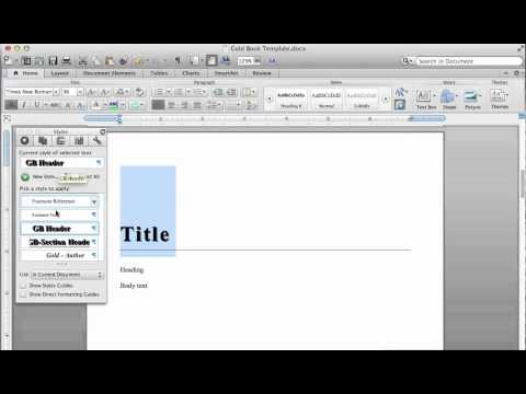 How to Mark Up a Word Document Using Styles