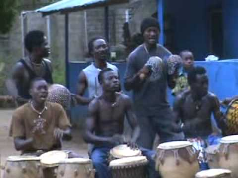 Akrowa Dance Ensemble, Drumming in Kokrobite Ghana