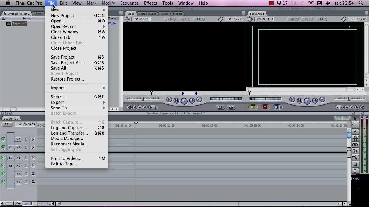 final cut pro 7 essencial aula 01 easy setup tutorial rh youtube com Final Cut Pro 5 Final Cut Pro 3