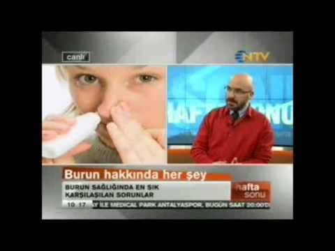 En çok şikayet edilen sorun burun tıkanıklığı Op.Dr.Süreyya Şeneldir