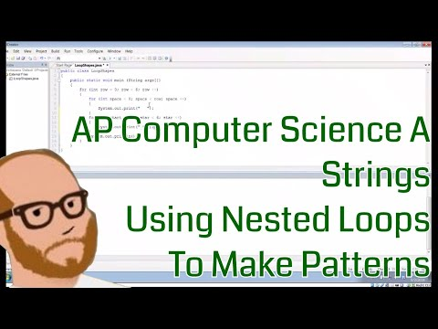 Computer Science AP - Strings -  Using Nested Loops to make Patterns