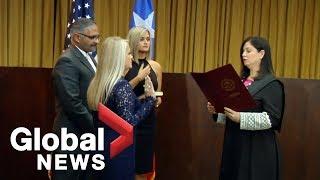 Wanda Vazquez sworn in as governor of Puerto Rico