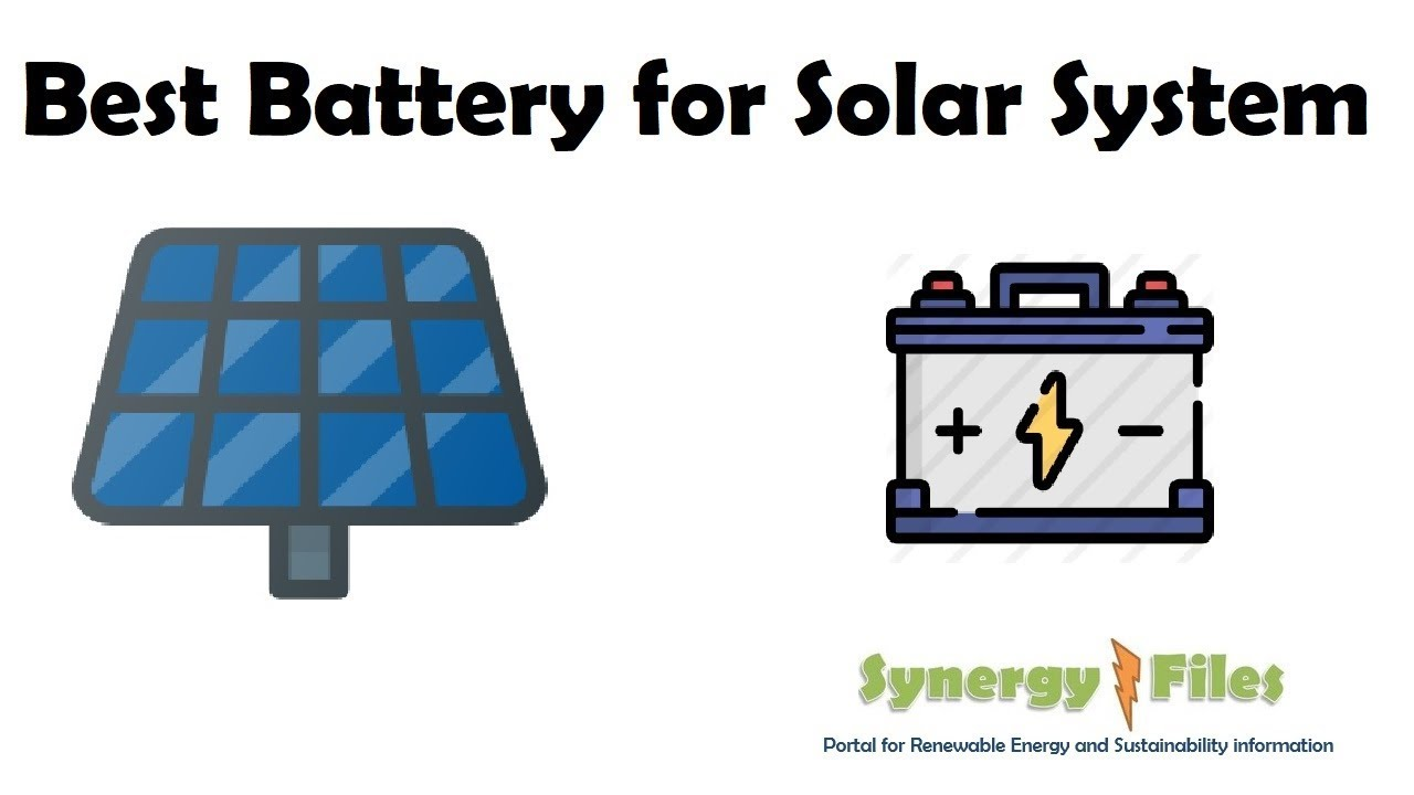 Solar Pv Systems Backup Power Ups Systems: Best Battery For Solar PV Systems