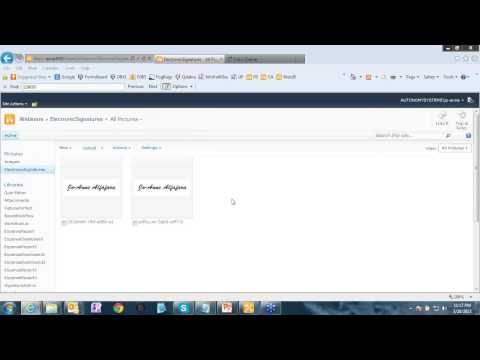 InfoPath: Signing InfoPath Forms - Part 1 - Electronic Signatures - March 28, 2013 Webinar