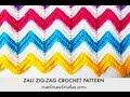 Zali Zig-Zag Crocheted Chevron Blanket