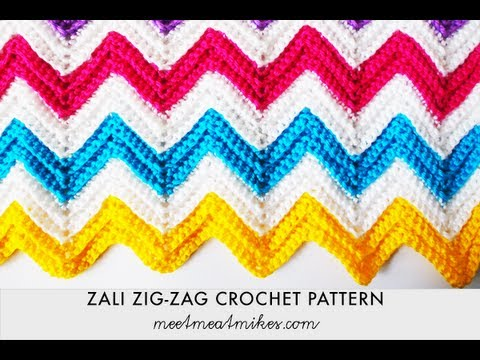 Zigzag Crochet Baby Blanket Patterns : Zali Zig-Zag Crocheted Chevron Blanket - YouTube