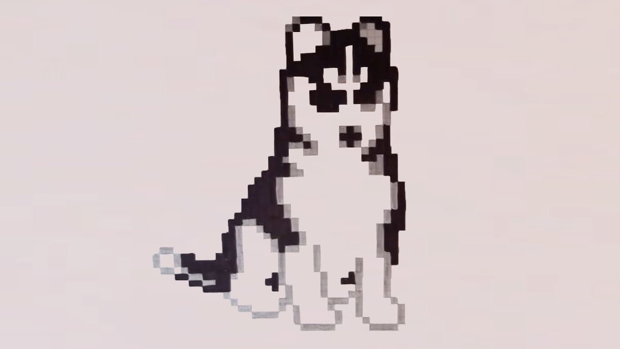 Comment Dessiner Un Chien Pixel Art Youtube