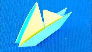 DIY. Как сделать кораблик – парусник из бумаги♡ поделки из бумаги (origami boat)(Наверняка, каждая современная мама и каждый современный папа складывали в детстве кораблики из бумаги...., 2016-02-16T12:00:00.000Z)