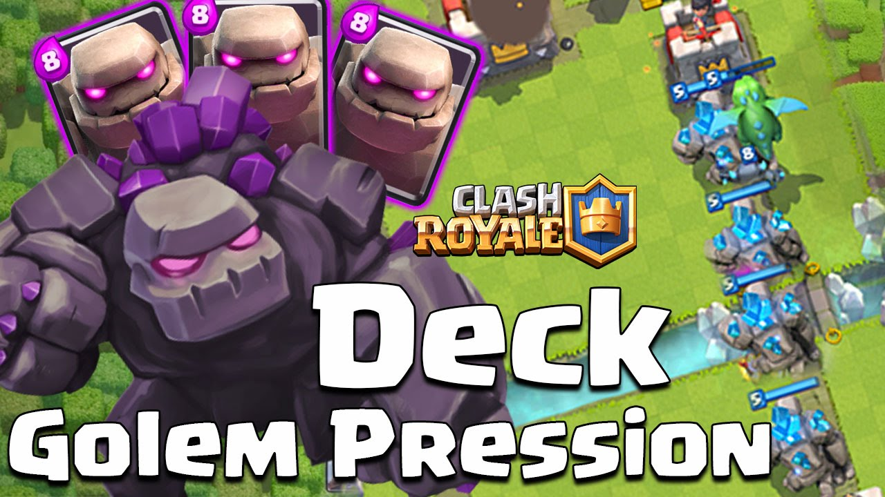 Clash royale deck golem une vrai pression ar ne 6 7 8 for Clash royale deck arc x