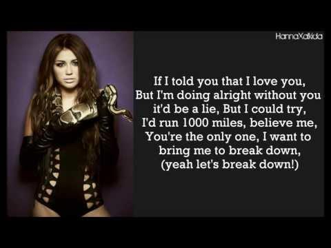 Miley Cyrus  Scars Lyrics)