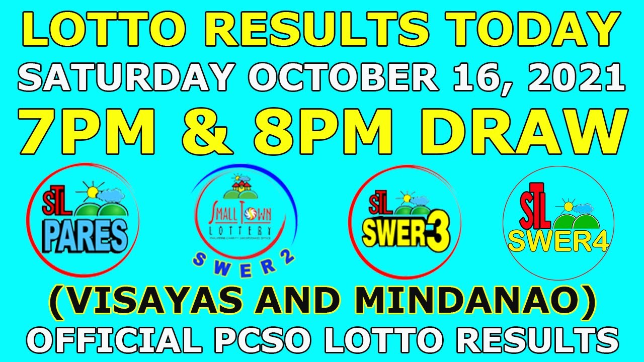 Download 7pm and 8pm STL Result October 16 2021 (Saturday) Visayas and Mindanao