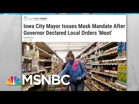 Local Mask Rules To Slow Coronavirus Undercut By GOP Governors | Rachel Maddow | MSNBC
