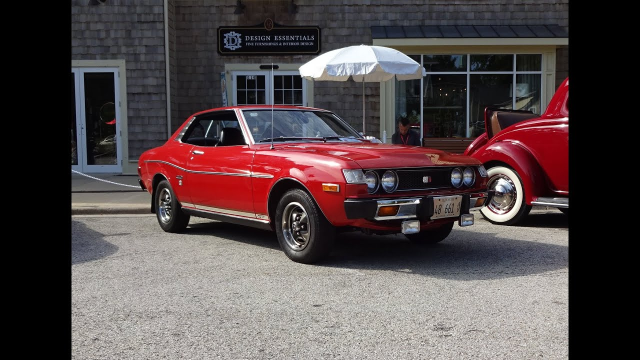 1975 toyota celica gt unrestored in red paint engine sound on my car story with lou costabile. Black Bedroom Furniture Sets. Home Design Ideas
