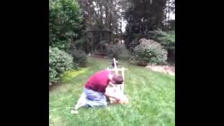 Tennis Ball Trebuchet In Action
