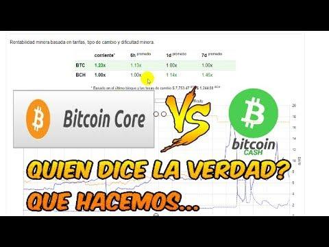 Bitcoin Core vs Bitcoin Cash | Una batalla de verdad y rentabilidad |