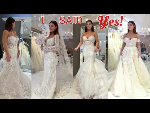 WEDDING DRESS SHOPPING + dress REVEAL!! 😢❤️ (Steven look away)