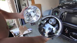 jw speaker 8700 evo j headlight installation