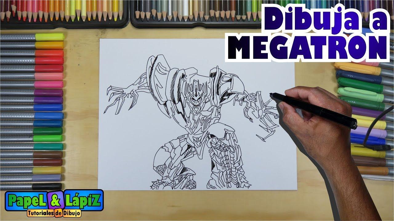 Aprende A Dibujar A Megatron De La Ultima Saga Transformers