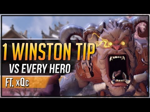 1 WINSTON TIP for EVERY HERO ft. xQc (DALLAS FUEL)