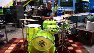 Redd Acrylic Drum set- review by Sandy Andarusman